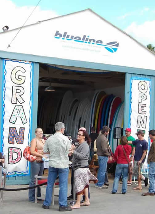 Blueline Stand Up Paddle Surf grand opening