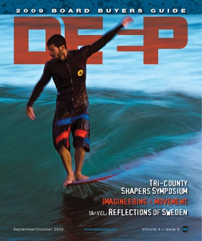 Deep Surf Magazine Cover September 2009 - surfboard buyers guide
