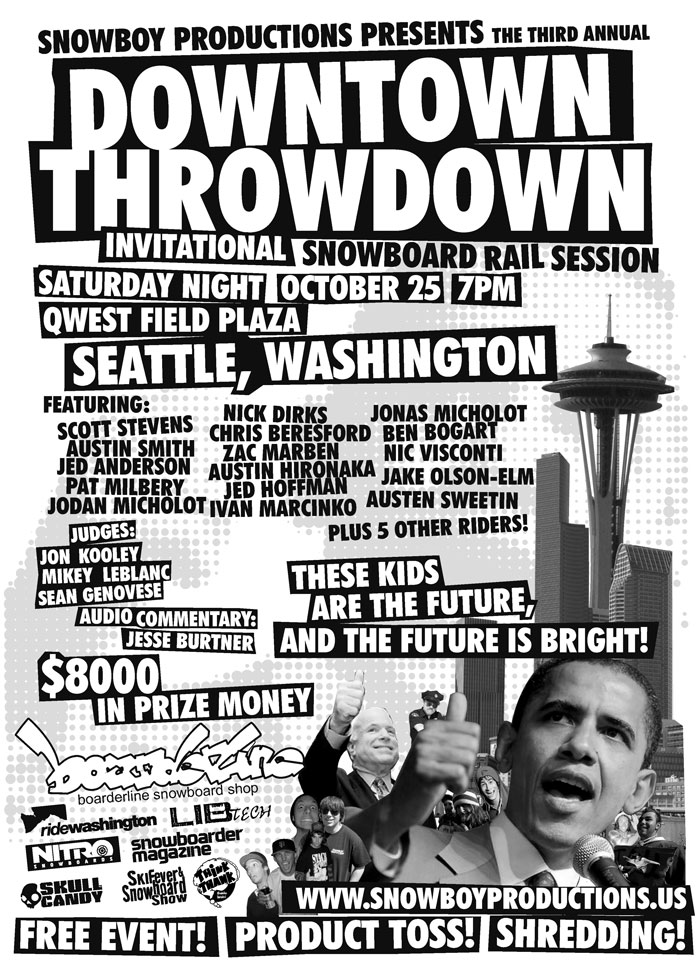 3rd Annual Downtown Throwdown Snowboard Contest in Seattle, WA
