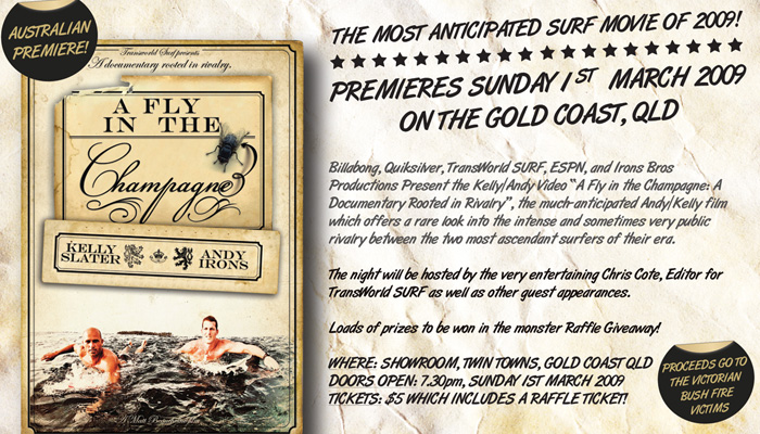 A Fly In The Champagne Surf Movie Australian Premier