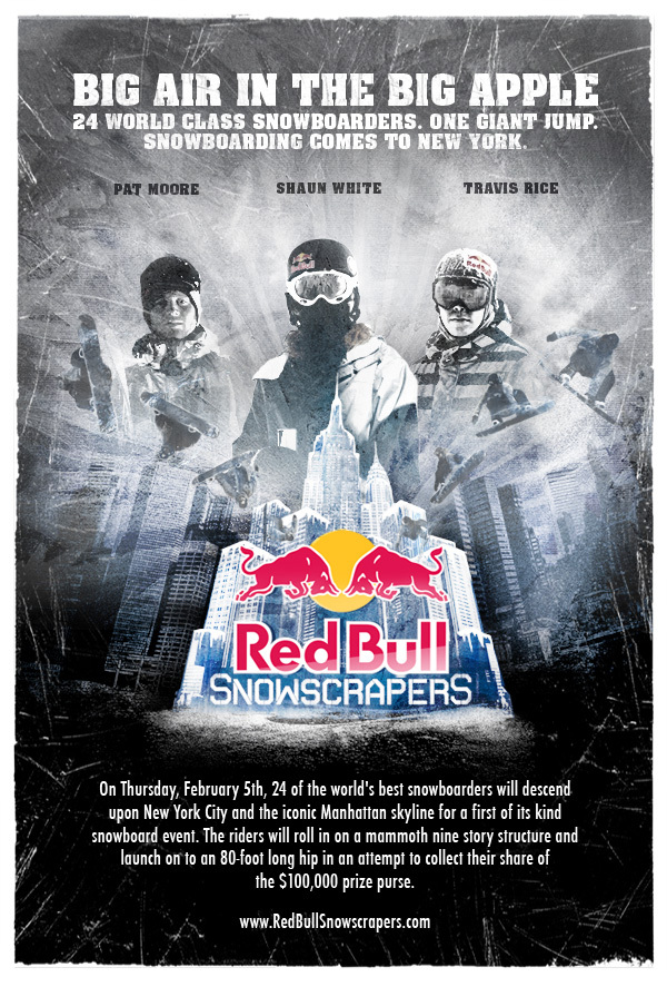 Red Bull Snowscrapers Snowboard Competition in New York City