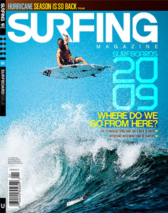 Surfing Magazine January 2009 the Surfboard Issue