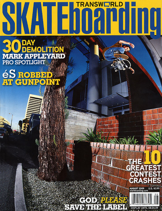 Transworld Skateboarding August 2009 Cover