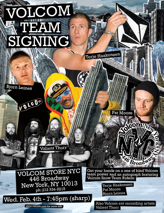 Volcom Snowboard Team Signing at Volcom Store in New York City